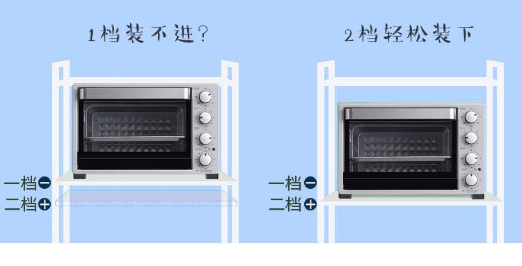 家用不锈钢厨房置物架落地式多层微波炉烤箱收纳架阳台储物架