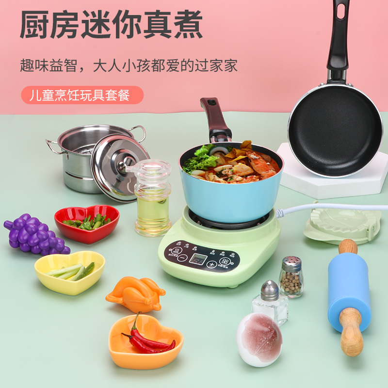 Mini Kitchen Set Cooking Real Cooking Japanese Food Play Fast Hand Cooking Small Kitchenware Cutlery Miniature Home Toys