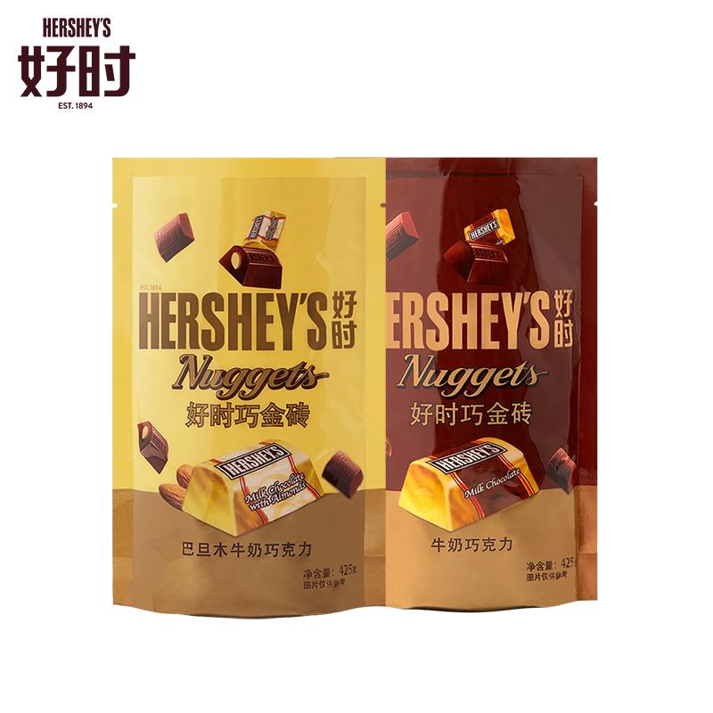 好时大师级巴旦木巧克力婚庆休闲零食袋装巧金砖Nuggets425g_领取50元天猫超市优惠券
