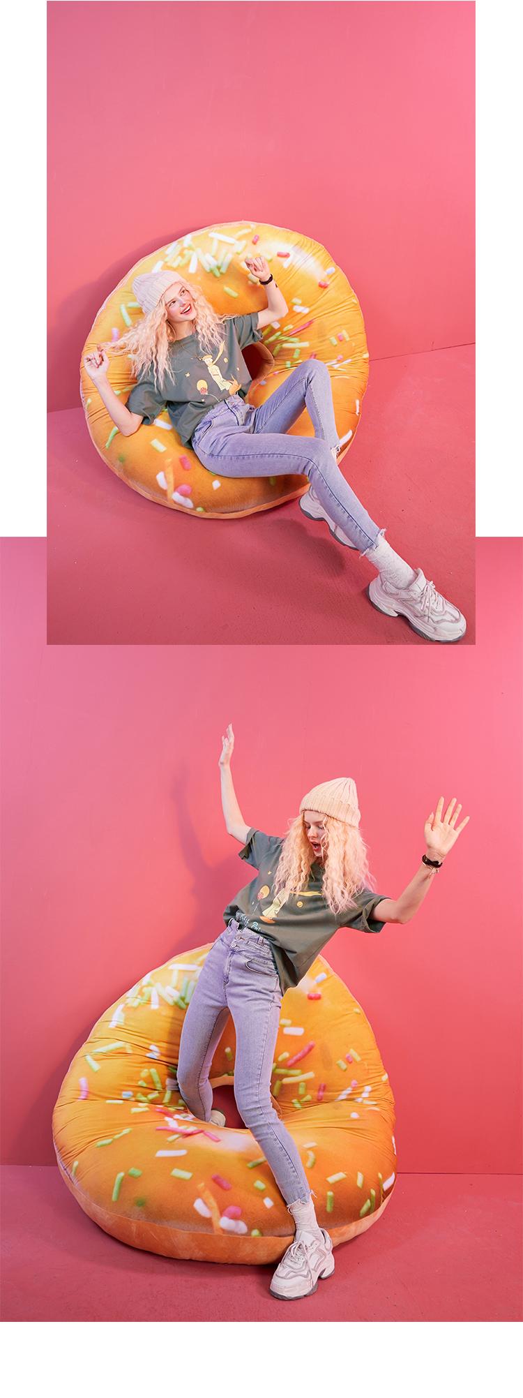 【35色IP联名】妖精的口袋薄款短袖t恤女2021夏季纯棉宽松上衣潮(【拍3件更实惠!】妖精的口袋纯棉T恤)
