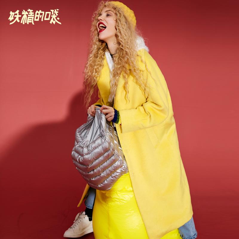 Tiên túi 2018 mùa thu và mùa đông thủy triều áo len mới đi lại giản dị màu rắn giữa áo len nữ dài - Áo Hàn Quốc