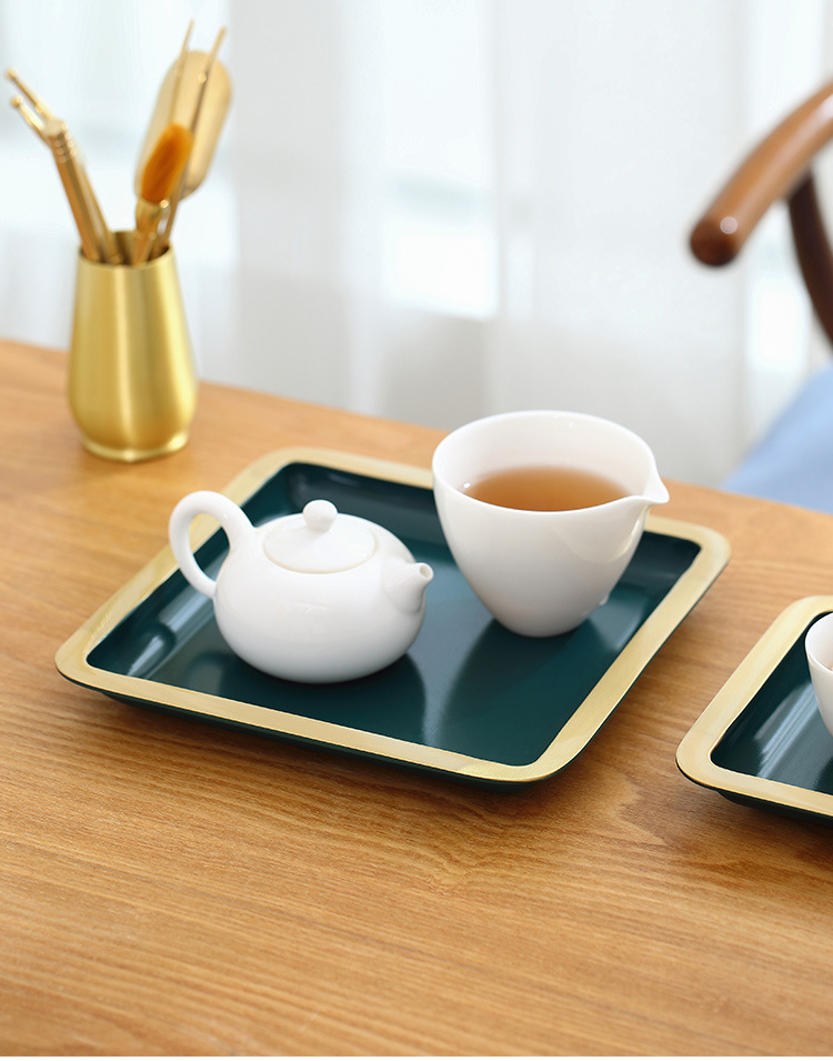 Ceramic story pure copper tray was dry tea tea tray cups one I and contracted with Japanese kung fu tea set