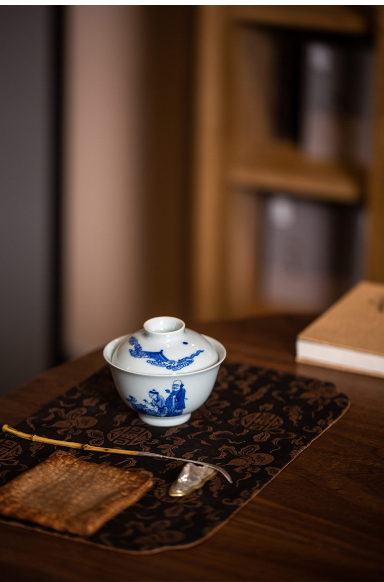 High - end checking hand - made ceramic story town tureen only three tureen single life of stove tureen mago