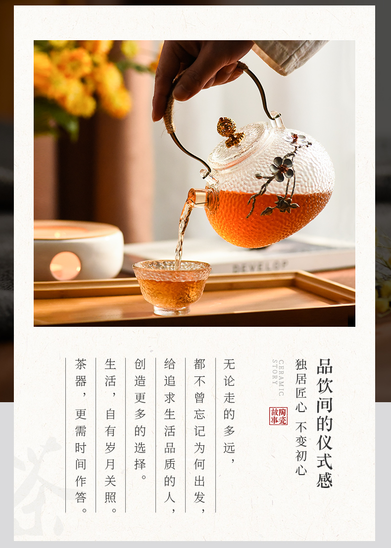 Electric ceramic story TaoLu boiled glass teapot tea sets high - temperature single pot of Chinese kung fu household kettle