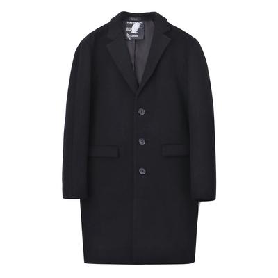 Carbine nam Slim Fit áo khoác phù hợp với cổ áo Hàn Quốc đen dài Wool Coat mùa thu và mùa đông Áo len