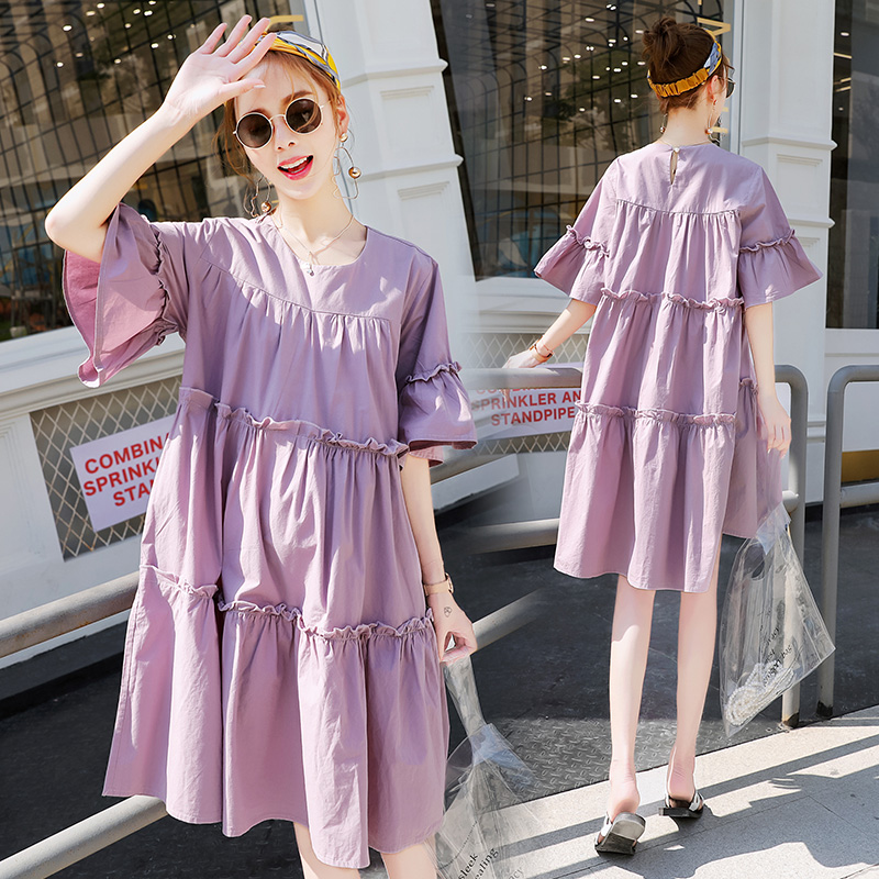 7e0c39780bb72 Pregnant women summer personality pregnant women dress loose long paragraph  a word tide mother skirt summer fashion 2018 New