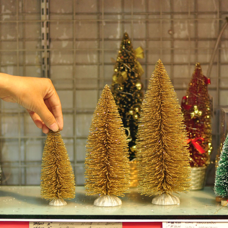 christmas golden christmas tree small mini christmas decorations counter bar desktop decoration window shopping mall