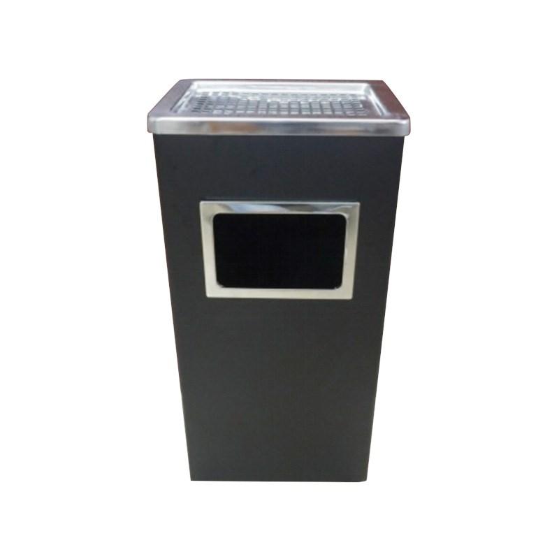 蔓多环保办公室用方卫生带盖的椭圆形特大号简约垃圾桶铁质不锈钢