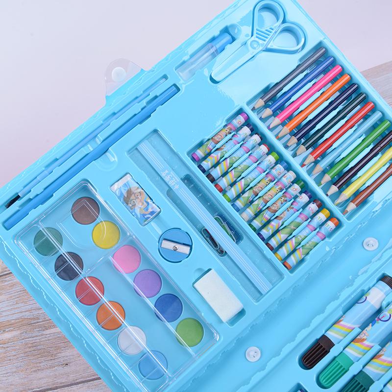 98件套儿童幼儿园水绘笔水彩笔画画笔彩色笔蜡笔油画棒彩铅铅笔水粉24色36色48色文具奖品绘画涂鸦组合套装