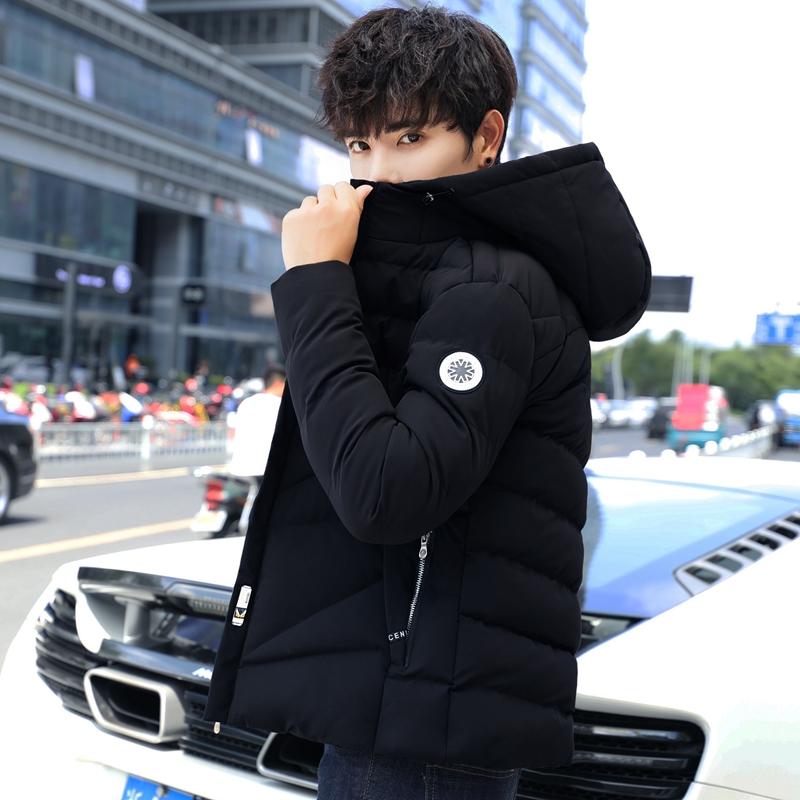 男士外套冬季棉衣连帽韩版棉衣男