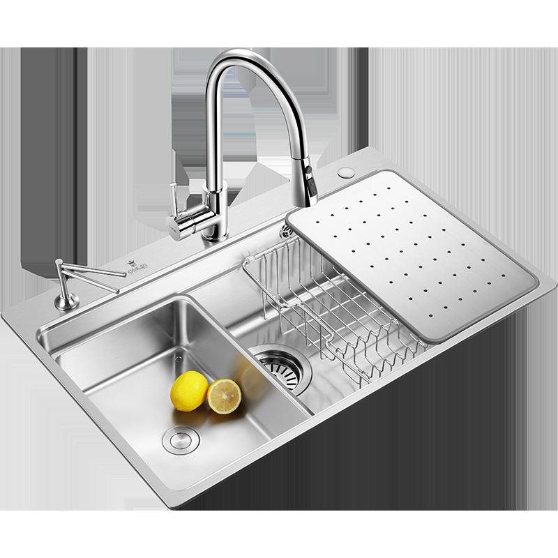 欧琳厨房304不锈钢水槽