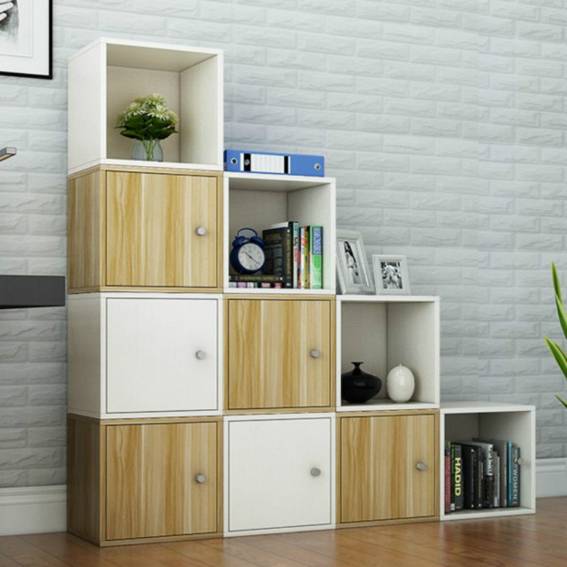Combination cabinet container display rack home corner shallow walnut grid cabinet indoor toy simple bookcase assembly partition cabinet