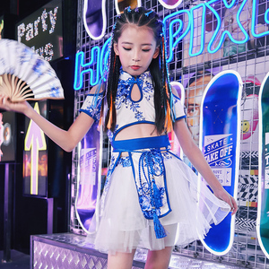 Hip Hop Dance Costumes for girls Jazz Dance Dress Chinese style children jazz dance costumes girls dance costumes girls hip hop suits June 1 show clothes women