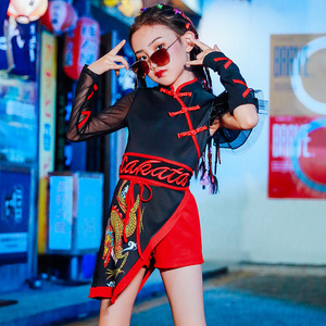 Hip Hop Dance Costumes for girls Jazz Dance Dress Chinese children Jazz Dance Costume performance national fashion girls fashion fashion clothing model T-stage fashion