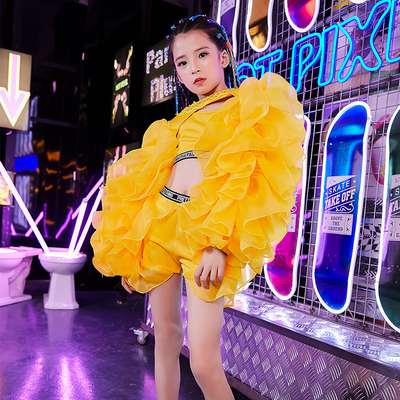 Hip Hop Dance Costumes for girls Jazz Dance Dress Children hip hop hip hop jazz dance suit dance clothing fashion personality model T stage show show show fashion