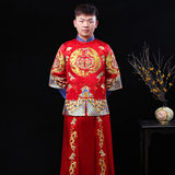 Xiuhe clothing men's 2011 new costume Chinese groom wedding dress embroidery dragon and phoenix men Tang suit favorite