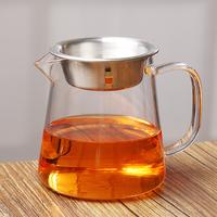 Общественное дорога чашка филиал чай устройство чай море фильтры установить толстая устойчивая высокая температура стекло усилие чайный сервиз монтаж большой размер общественное дорога чашка