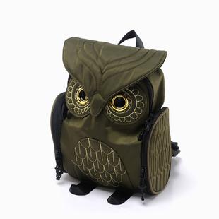 Европа и америка 2018 зимний осенний новинка рюкзак пакет сумки сова нейлон ткань женский путешествие рюкзак случайный портфель