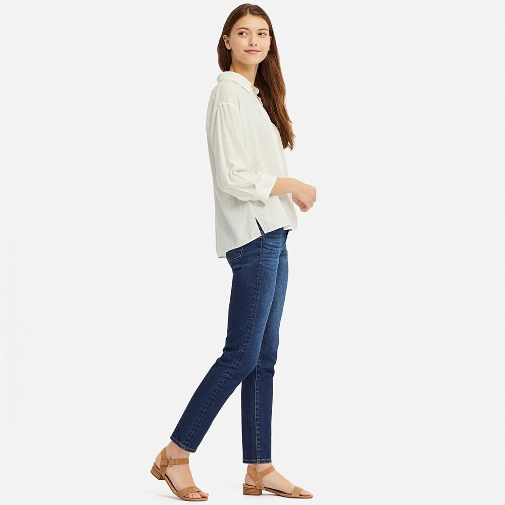 女装 麻混纺衬衫(七分袖) 414173 UNIQLO