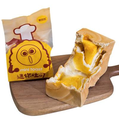 甜苦瓜 纯奶手撕面包咸蛋黄香夹心吐司手工营养早餐休闲零食品90g