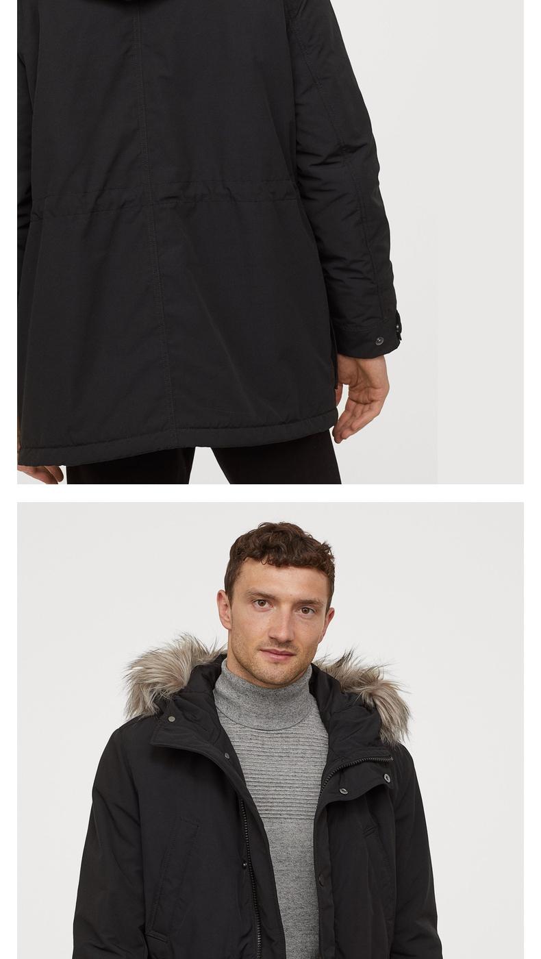 H&M 男子中长款工装棉衣 图3