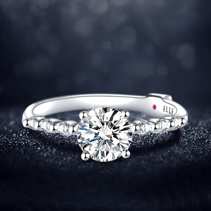 双证书,法国 Elle 天鹅之恋 莫桑石戒指