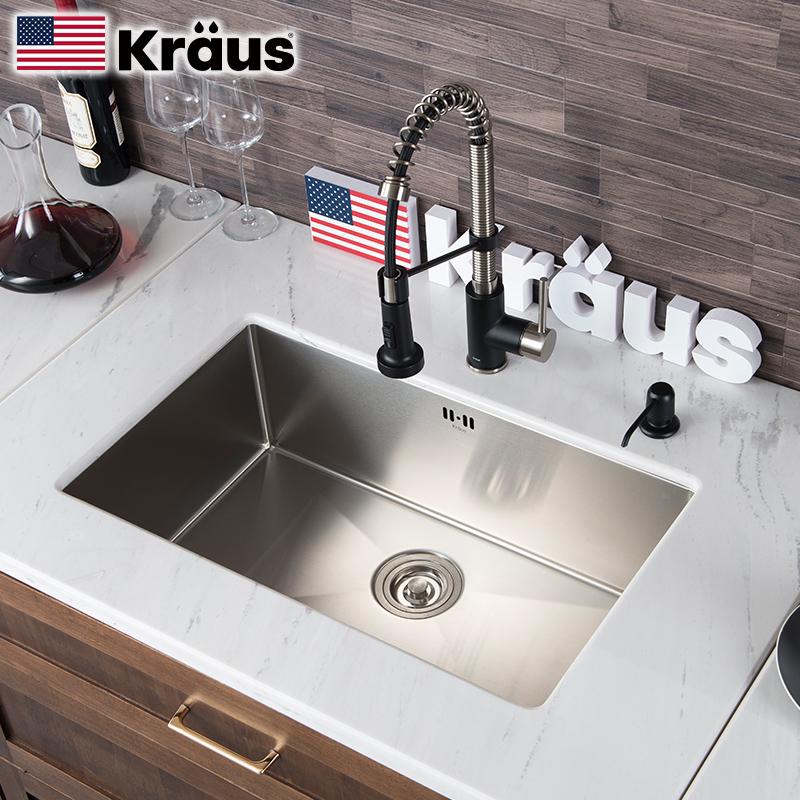 白菜价!Kraus/克劳思 不锈钢手工水槽CKHU100
