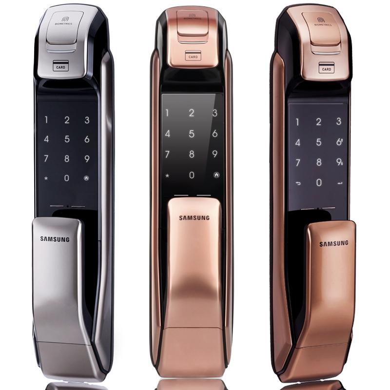 Imported Samsung fingerprint password sensor card lock fingerprint door  lock home security door lock remote control