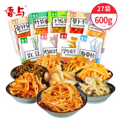 即食下饭榨菜金针菇组合27包600g