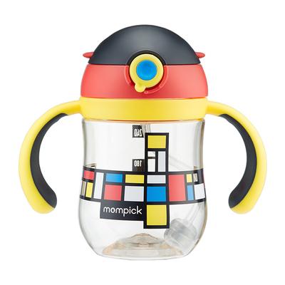 兔头妈妈甄选 婴儿学饮杯宝宝防喷呛儿童重力球手柄PPSU吸管水杯