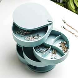 Swivel stud earring earring jewelry box holder small delicate cleaning ornaments web celebrity ear clip multi-layer box