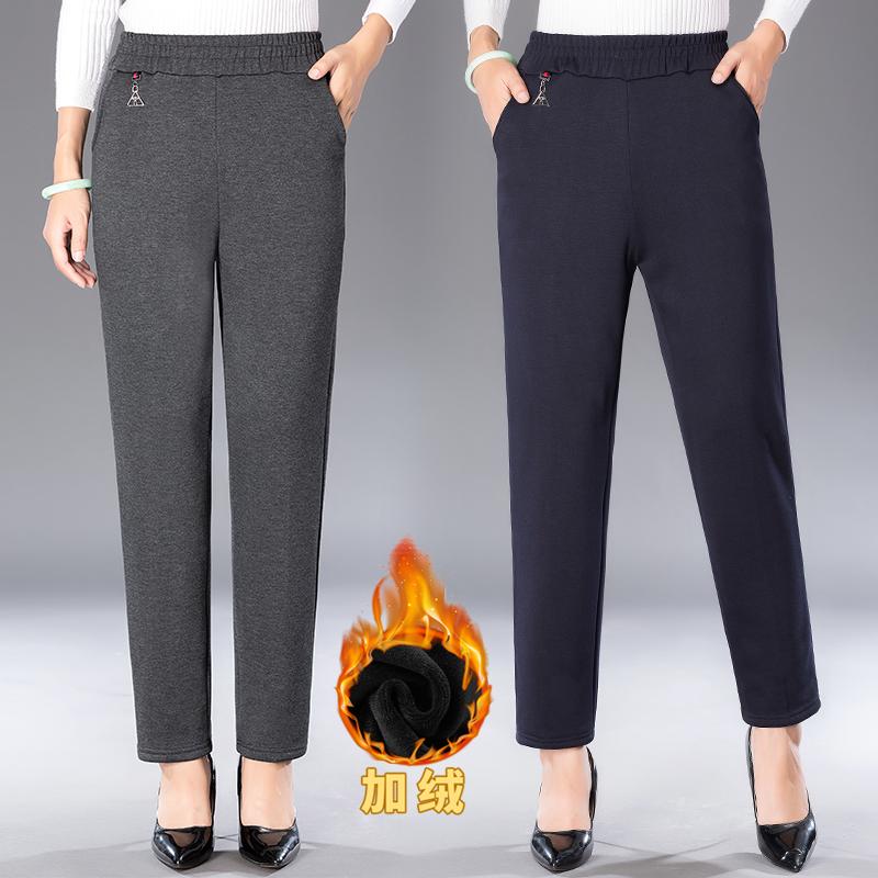 。中年妇女装棉裤子秋冬装妈妈外穿保暖长裤女冬天40到45岁50休闲