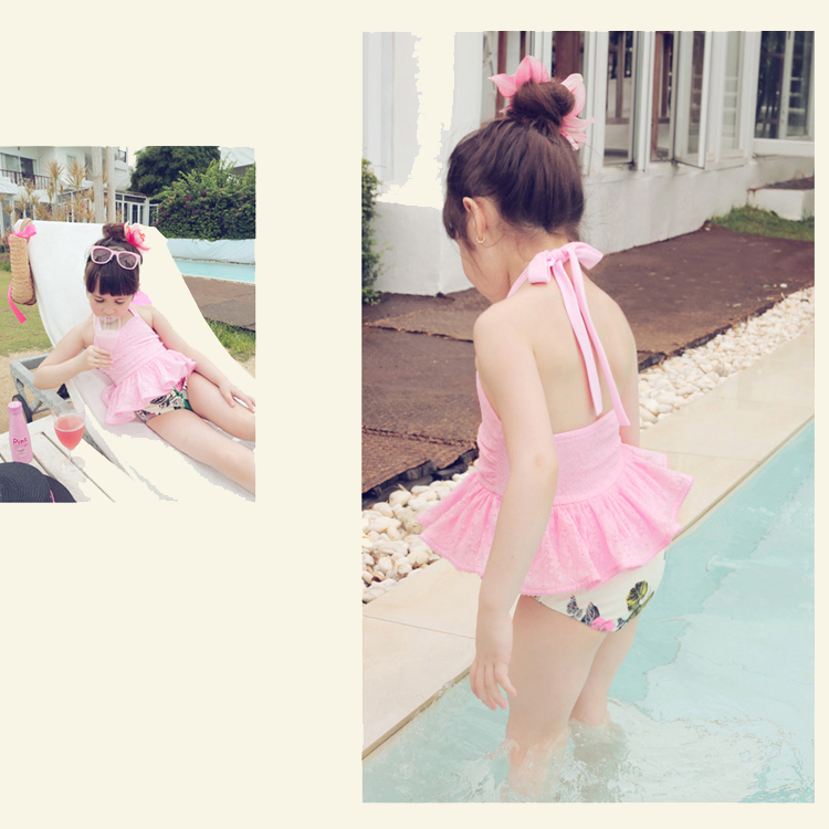 e3edefdf452a2 ... Children's Swimwear Girls Swimsuit Split Princess Skirt Swimsuit Lace Korean  Girls Baby Baby Bikini