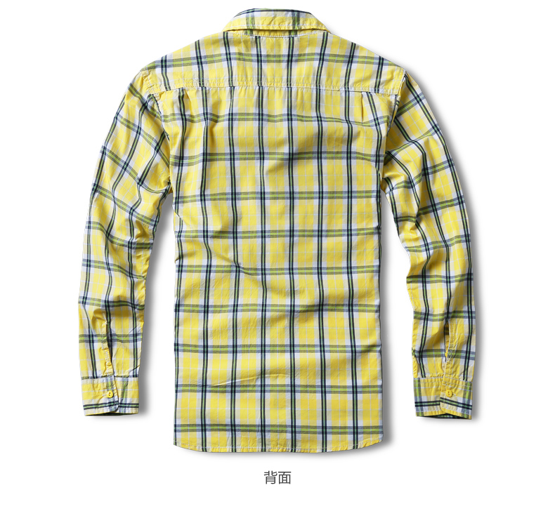 Match Maggie autumn men's lad shirt men's long-sleeved casual tide youth square collar wash shirt G2226A 37 Online shopping Bangladesh