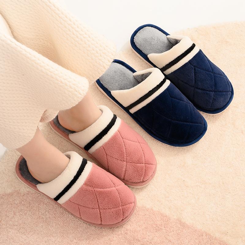 棉拖鞋女冬情侣室内保暖可爱月子居家用居拖鞋绒毛毛拖鞋男秋冬季