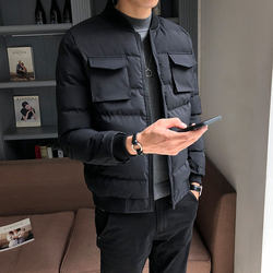 Men's jacket winter 2020 new cotton-padded jacket trend Korean version of slim down padded jacket padded jacket thick and handsome winter