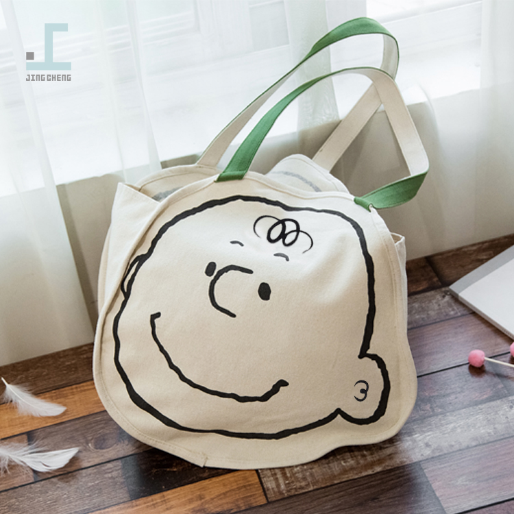 ulzzang热卖童趣个性卡通简约时尚单肩帆布包文艺可爱造型购物袋