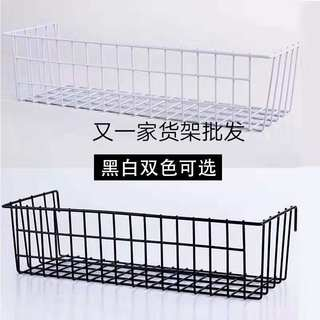 Display mesh hanging basketball material storage black white metal grid box display home goods basket jewelry decoration