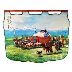 Монгольская картина из кожи Монгольский рисования
