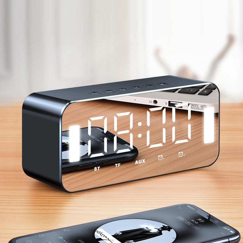 渥赢H8无线蓝牙音箱家用低音炮手机迷你闹钟蓝牙小音响随身便携式小型3D环绕大音量可爱少女影响