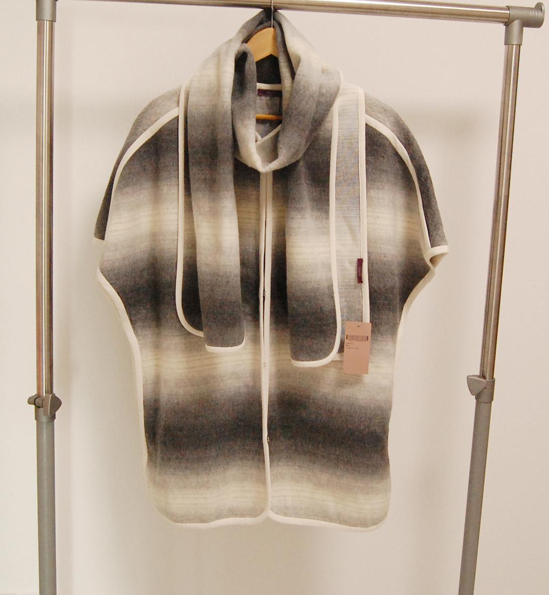 Jessica JESSICA chính hãng 3290 mùa thu và mùa đông nữ sọc với áo khoác không tay 2541C5 - Áo len lót đôi
