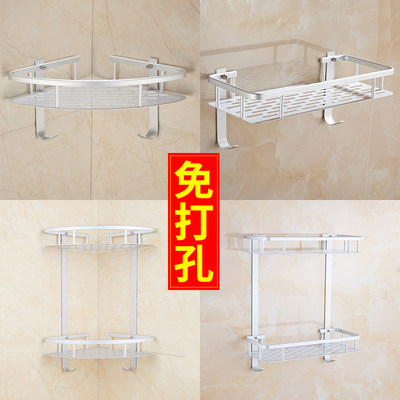 Punching can be free of punching toilet tripod bathroom shelf double 2-layer toilet storage wall hanging hardware pendant
