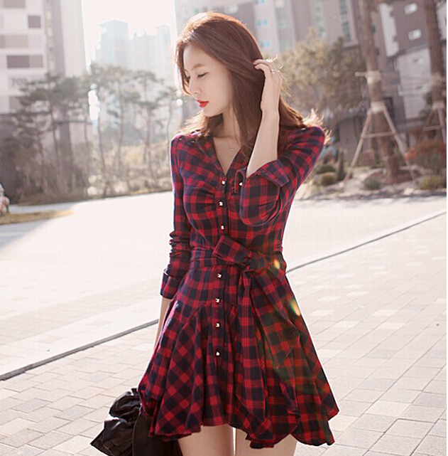 Plus Size Sale Dress Free Shipping Woman Hot Korean Version 2018 And
