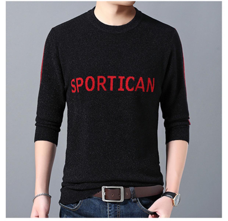 Mùa đông thanh niên nam áo len dày rộng kích thước lớn cộng với chất béo tăng nam áo len thủy triều chất béo ấm áo len - Áo len