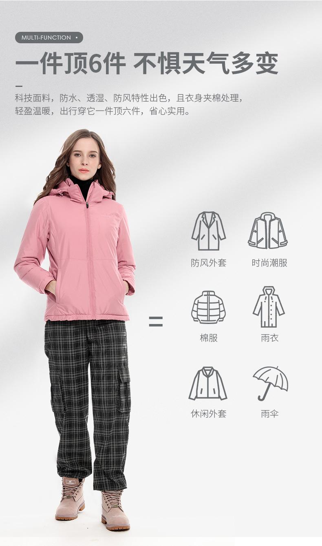 骆驼 珠穆朗玛系列 男女款 夹棉加厚冲锋衣 不惧风雨 图6
