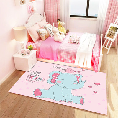 Cartoon children's carpet living room bedroom room bedside floor mats crawling mats thickened full house home machine washable cute