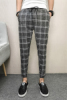 Jitter With The Same Mental Social Group Summer Thin Lattice Nine Pants Pants, Haren Original Designer Minutes Of Lattices M L XL