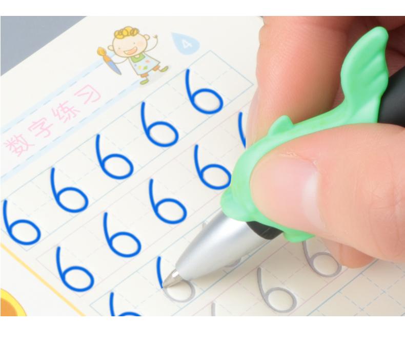 幼儿学前班初学者启蒙练字贴5本装3-6岁儿童字母汉字笔画拼音数字凹槽字帖笔划字母楷书写字本反复使用商品详情图