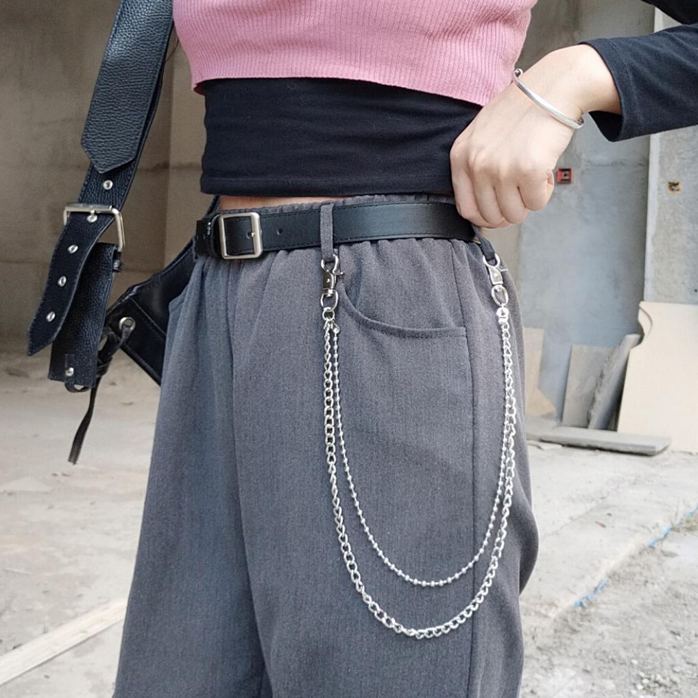 百搭裤链ins潮人网红男女双层金属挂链潮流嘻哈圆珠铁链裤链裤子