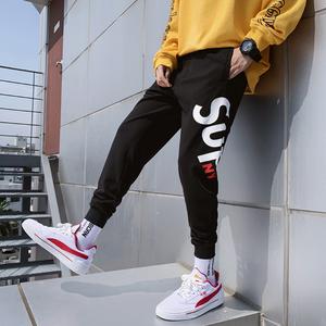 Mùa hè quần chín điểm tinh thần quần nam thủy triều thương hiệu chàng trai Hồng Kông phong cách siêu lửa cec chân 89 điểm nở hoa - Crop Jeans
